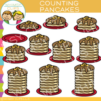 Stack of Pancakes Counting Clip Art