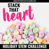 Valentine's Day STEM Challenge-Building Conversation Heart Towers