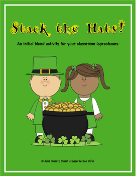Stack the Hats! Initial blends phonics word activity