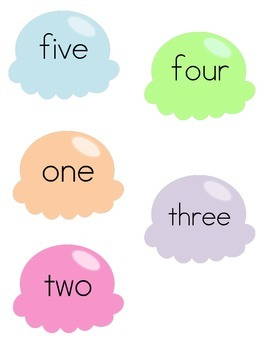 Stack the Ice Cream: A 1-10 Number Recognition Game (English and Spanish)