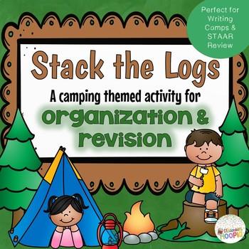 Stack the Logs Camping Revision & Organization Activtiy