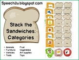 Stack the Sandwiches: Category Matching Game: Speech therapy