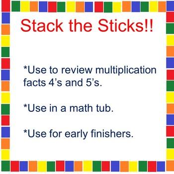 Stack the Sticks! A Math Tub Activity