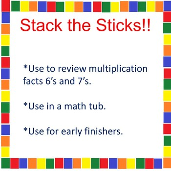 Stack the Sticks! A Math Tub Activity