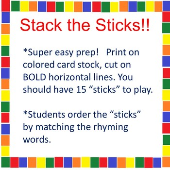 Word Work or Early Finisher - CVC Rhyming Words