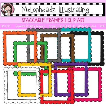 Stackable Frames 1 clip art - Single Image - by Melonheadz
