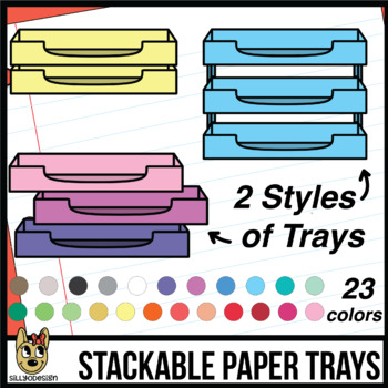 Stackable Paper Tray Organizer Clipart