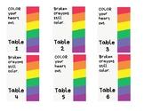 Stackable plastic crayon box labels *rainbow*