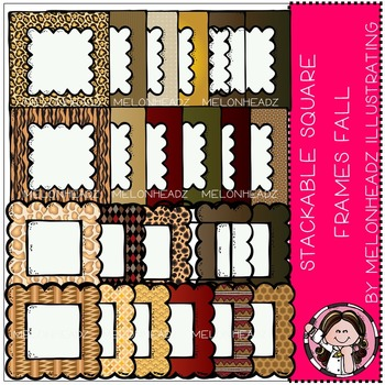 Stackable square frames - fall - by Melonheadz