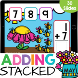 Stacked Adding to 10: Busy Bees Math Google Slides