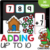 Stacked Adding to 10: Christmas Candies Math Google Slides
