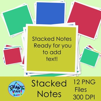 (Sticky Notes): Stacked Notes Clip Art
