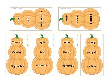 Stacked Pumpkins for Categories!