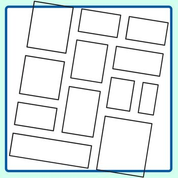 Stacked Rectangle Blank Templates Clip Art Set for Commercial Use