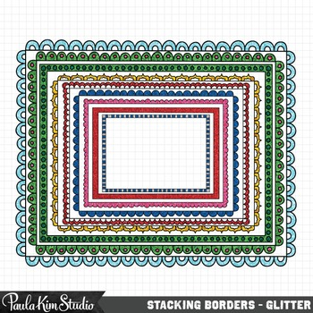 Stacking Borders - Glitter
