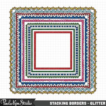 Stacking Borders - Glitter