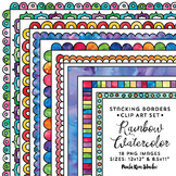 Stacking Borders Rainbow Watercolor