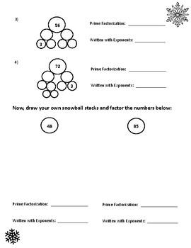 Stacking Snowballs -- Prime Factors