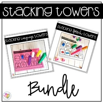 Stacking Towers Bundle: No Prep Speech and Language Therapy