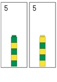 Stacking cubes - Making numbers 1-10 through patterns