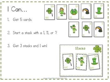 Stacks Game for St. Patrick's Day 1-10 and 11-20