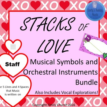 Stacks of Love- Musical Symbols and Orchestral Instruments Bundle