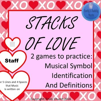 Stacks of Love- Music Symbols Matching Game