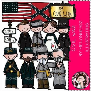 Civil war clip art - COMBO PACK - by Melonheadz