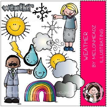 Weather clip  art - COMBO PACK- by Melonheadz