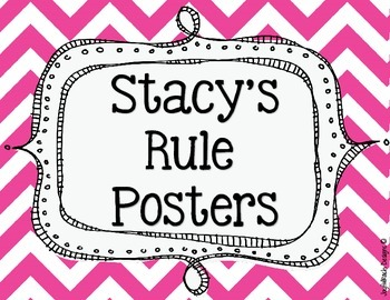 Stacy's Rule Posters