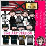 Civil war clip art - LINE ART- by Melonheadz