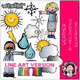 Weather clip art - LINE ART- by Melonheadz