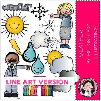 Stacy's weather by Melonheadz LINE ART