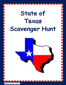 State of Texas Scavenger Hunt