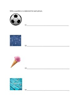 3rd grade Statements and Questions worksheet