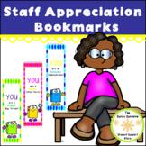 Staff Appreciation Bookmarks