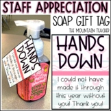 Staff Appreciation Gift - Soap Gift Tag