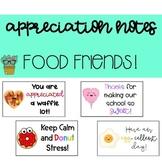 100 Staff Appreciation Notes (Food Friends Theme)