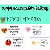 112 Staff Appreciation Notes (Food Friends Theme)