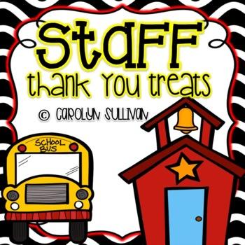 Staff Appreciation Tag Treats (Volunteers Too!)