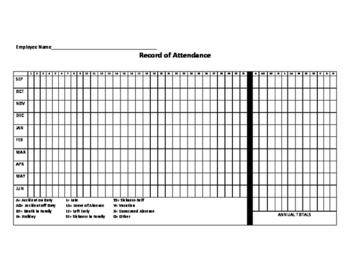 Staff Attendance Sheet