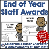 Staff Award Certificates | Digital and Paper Versions