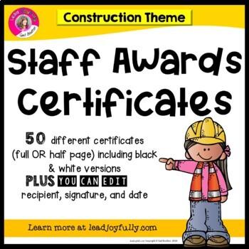 Staff Awards/Certificates (Construction Award)