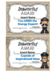 "Staff Awards/Certificates (""Seaworthy Award"") PIRATE/NAUTICAL THEME"