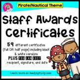 "Staff and Teacher Awards (""Seaworthy Award"") PIRATE/NAUTICAL THEME"