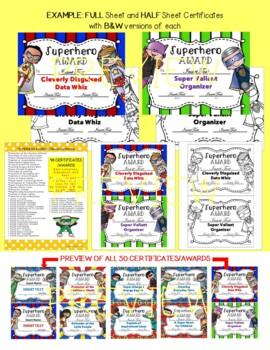 Staff Awards/Certificates (Superhero Award)