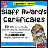 Staff and Teacher Awards (Superhero Theme)