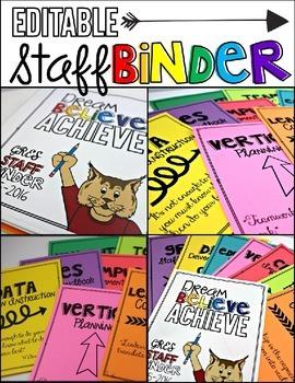 Staff Binder for Whole School or Leadership Teams