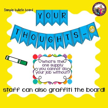 Staff Bulletin Board for Staff Lounge or Work room!
