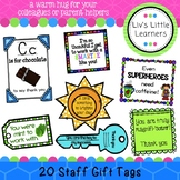 Staff/Colleague/Parent Appreciation Gift Tags (thank you)